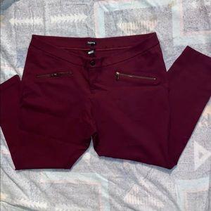 Torrid ponte stretch skinny pants- Burgundy